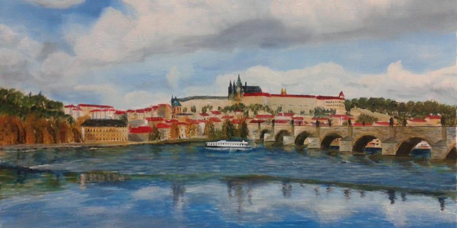 Olej na plátně - Karlův most