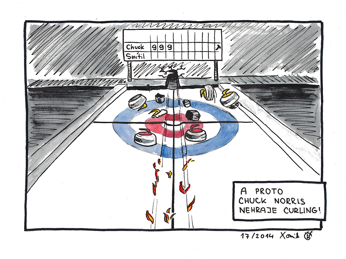 Curlingovy Komiks Chuck Norris Xomikovou Pastelkou