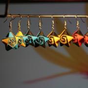 Origami náušnice (hvězdy)